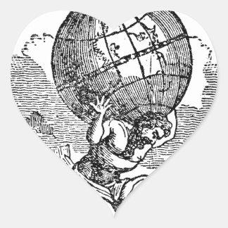 Atlas gezuckt/Schulden-Zitat Herz-Aufkleber