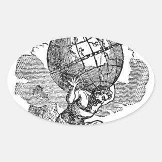Atlas gezuckt/Schulden-Zitat Ovaler Aufkleber