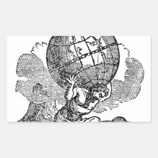 Atlas gezuckt/Schulden-Zitat Rechteckiger Aufkleber