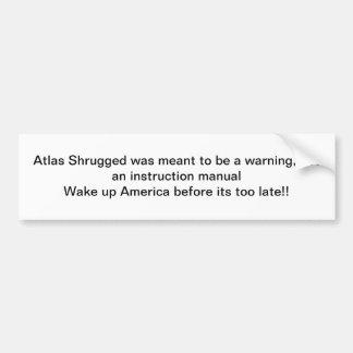 Atlas zuckte Stoßstcker Autoaufkleber