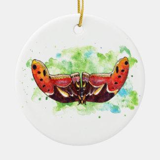 Atlasmotte Rundes Keramik Ornament