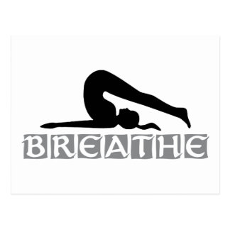 ATMEN Sie Yoga Postkarten