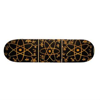 ATOM NUCLEAS n CHINESISCHES CHARACTORS 18,4 Cm Mini Skateboard Deck