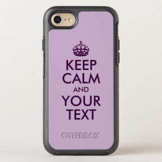 Aubergine behalten Ruhe und Ihren Text OtterBox Symmetry iPhone 8/7 Hülle