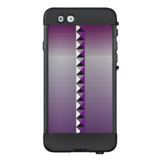 Auberginenton und -Imitat bürsteten rostfreien LifeProof NÜÜD iPhone 6 Hülle