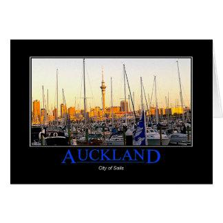 """""""Auckland-Stadt der Segel"""" Gruß-Karte Karte"""
