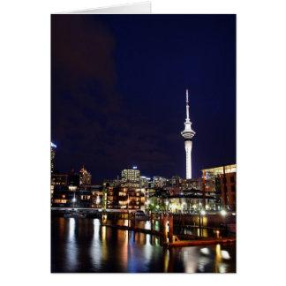 Auckland-Stadt, Neuseeland nachts Karte