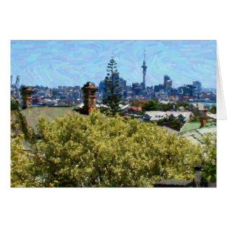 Auckland über den Dachspitzen Karte