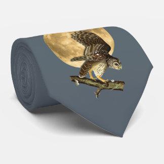 Audubon abgehaltene Eulen-Mond-Krawatte, Halloween Individuelle Krawatte