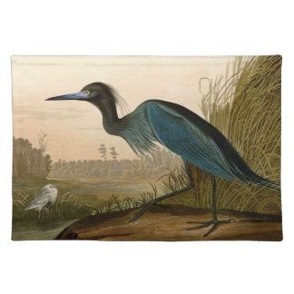 Audubon blaue Kran-Reiher-Vögel von Amerika Tischsets