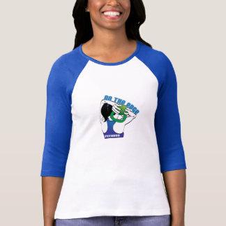 Auf dem Rand-Fitness-Baseball-T-Stück T-Shirt