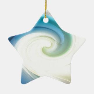 Auf dem Wappen einer Welle Keramik Stern-Ornament
