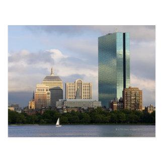 Auf den Charles River in Boston segeln, Postkarte