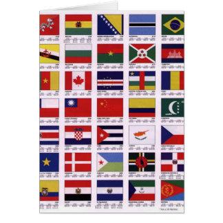 Auf der ganzen Welt Grußkarte