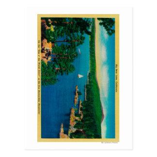 Auf der Kante des Welt-Antriebs in San Bernardino Postkarte