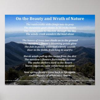 Auf der Schönheit und dem Zorn des Natur-Plakats Poster