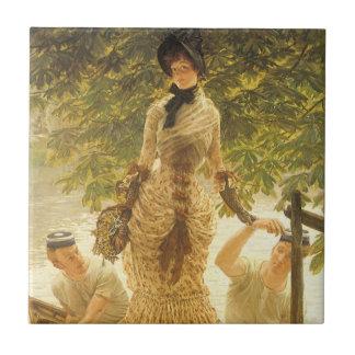 Auf der Themse durch James Tissot, Vintager Fliese