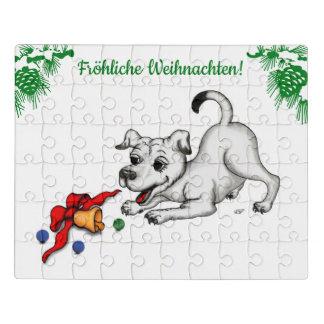 auf Deutsch Weihnachten mit Welpe Glocke und Ball Puzzle