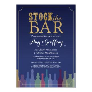 Auf Lager Sie die Bar-blaue Party-Verlobung, die 12,7 X 17,8 Cm Einladungskarte