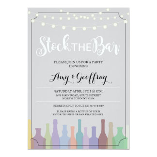 Auf Lager Sie die Bar-graue Party-Verlobung, die Karte