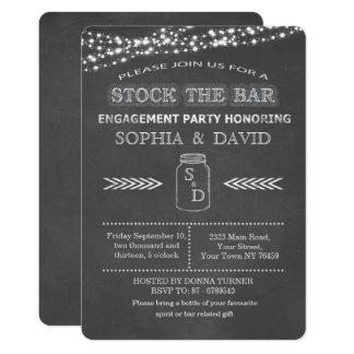Auf Lager Sie die Bar-Tafel-Maurer-Glas-Verlobung Karte