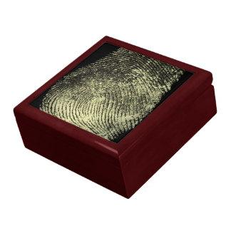 Aufgehobener Schleifen-Fingerabdruck Erinnerungskiste