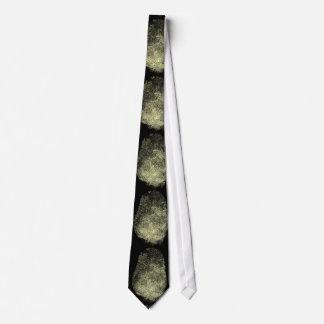 Aufgehobener Schleifen-Fingerabdruck Personalisierte Krawatten