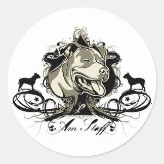 Aufkleber amerikanischen Staffordshires Terrier