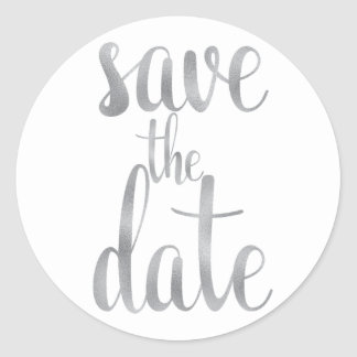 Aufkleber des Silbers Save the Date