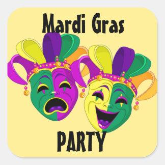Aufkleber-Karneval Set des Karneval-Party 20 Quadratischer Aufkleber