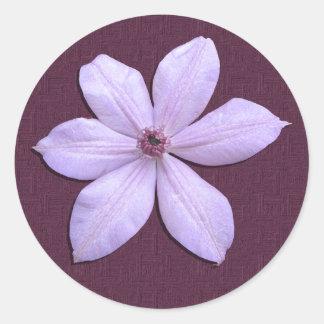 Aufkleber - lila Clematis