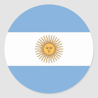 Aufkleber mit Flagge von Argentinien