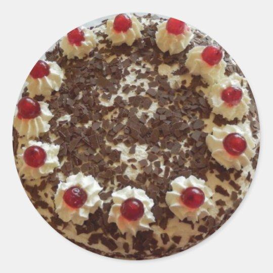 Aufkleber Torte