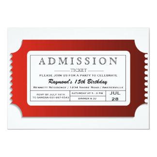 Aufnahme-Karte zum Party 12,7 X 17,8 Cm Einladungskarte