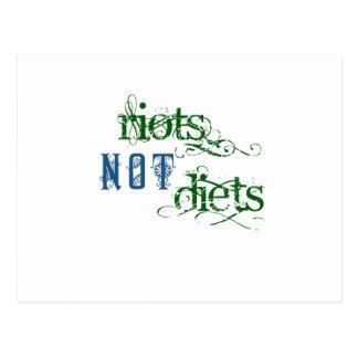 Aufstand-nicht Diäten Postkarte