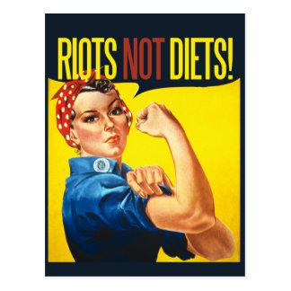 Aufstand-nicht Diäten - Vintager Feminismus Postkarte