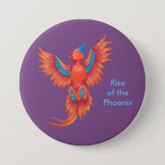 Aufstieg des großen Knopfes Phoenix Runder Button 7,6 Cm