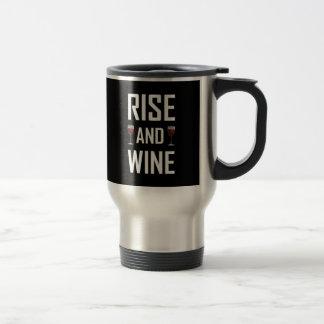 Aufstieg und Wein-Gläser Reisebecher