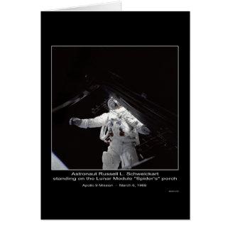 Auftrag Astronauten-Russells L. Schweickart Apollo Karte