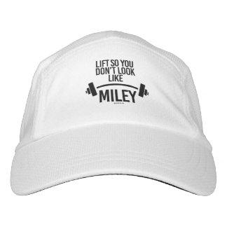 Aufzug also Sie sehen nicht wie Miley aus Headsweats Kappe