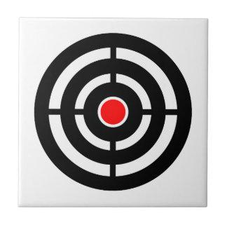 Auge auf dem Ziel - Bullaugen-Druck Kleine Quadratische Fliese