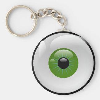 Auge auf den Schlüsseln Standard Runder Schlüsselanhänger
