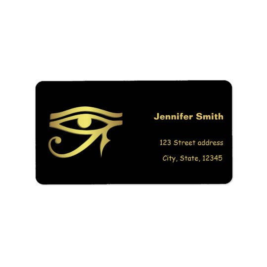 Auge des horus Ägyptersymbols Adressaufkleber