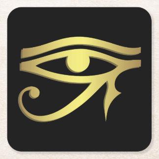 Auge des horus Ägyptersymbols Rechteckiger Pappuntersetzer