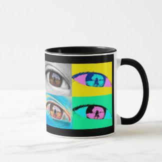 Auge Fotos und pop' Stilkunst Tasse