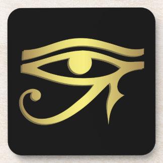 Auge horus des ägyptischen Symbolschwarzen Untersetzer