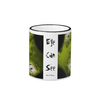 Auge kann sehen ringer tasse