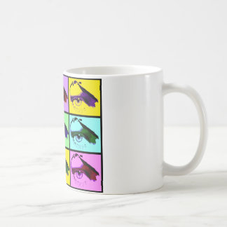 Auge sehen Sie (Pop-Art-Farbe) Kaffeetasse