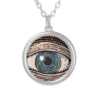Auge von Providence (transparent) Versilberte Kette