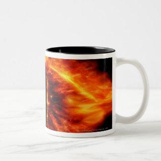 Auge von Sauron Zweifarbige Tasse